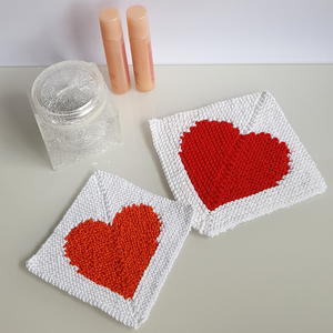 Intarsia Knit Washcloth