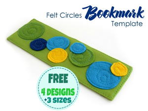 DIY Fabric Bookmarks with Felt Circles