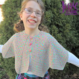 Rainbow Hero Crochet Cape