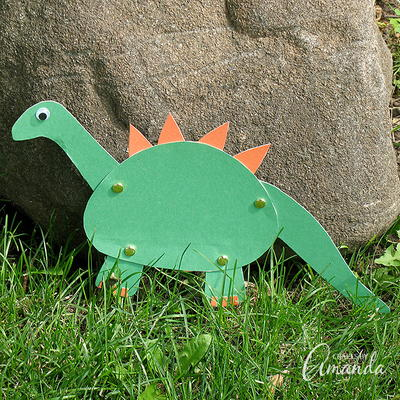Construction Paper Dinosaur Craft