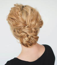 Super Quick Curly Hair Updo