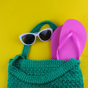 Beginner Crochet Beach or Market Bag