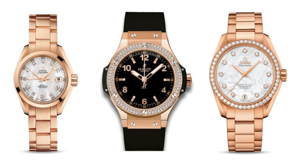 Ladies Red Gold Watches