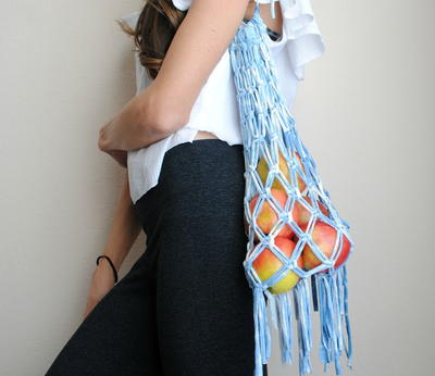 T-Shirt to Macrame Market Bag