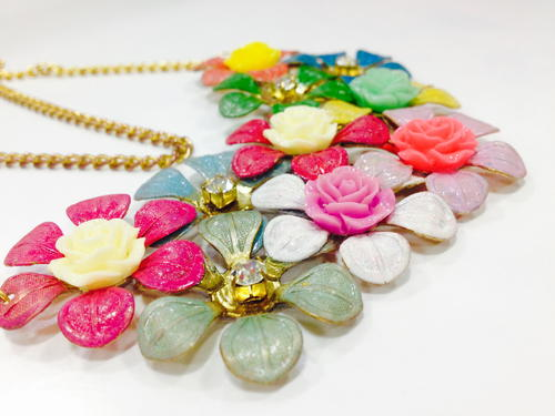 DIY Floral Statement Jewelry