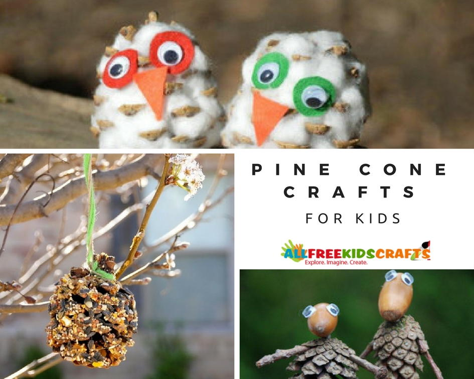 32 pine cone crafts for kids for Pine cone crafts for children