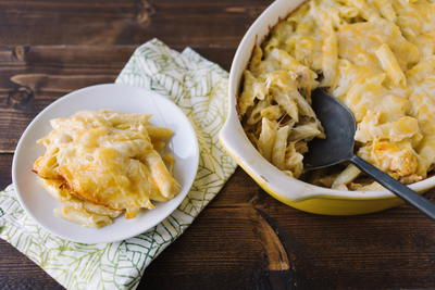 3-Cheese Buffalo Chicken Casserole Recipe