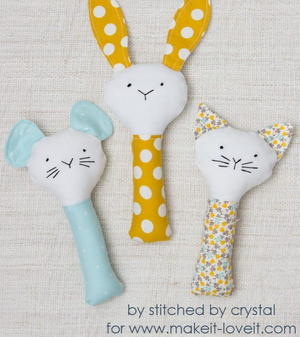 Plush Rattle Sewing Pattern