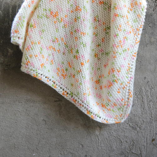 Peas and Carrots Baby Blanket