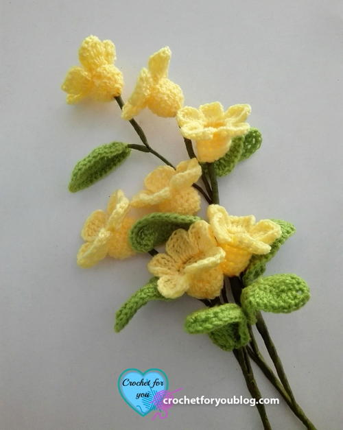 Crochet 3D Flower Bouquet