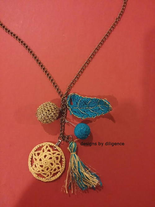 Bohemian Charms Crochet Necklace