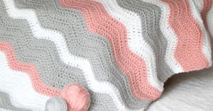 Peppy Pink Baby Blanket Crochet Pattern