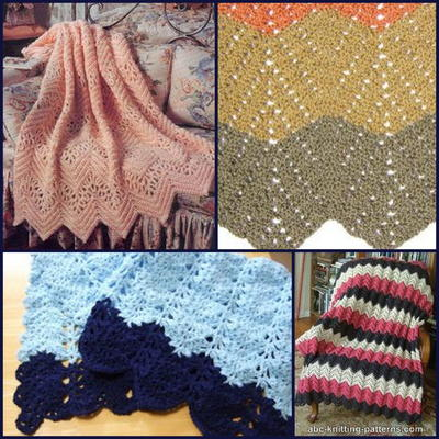 Lacy Crochet Ripple Afghan Patterns