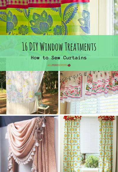 16 DIY Window Treatments How to Sew Curtains