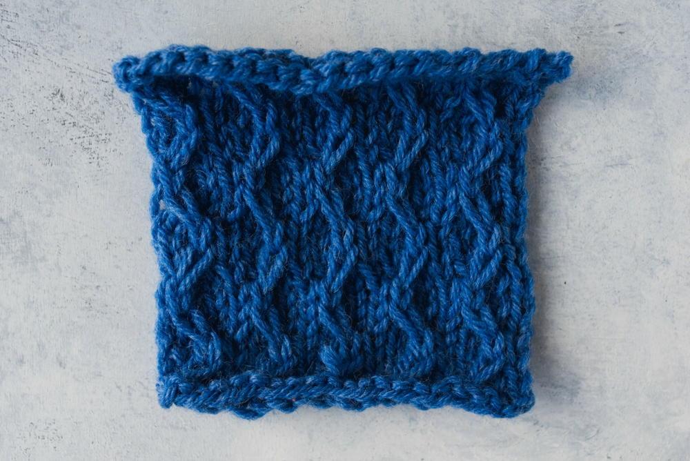 Easy Zig Zag Slip Stitch Pattern | AllFreeKnitting.com