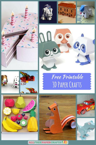 graphic about Free Printable Paper Crafts identify 26+ No cost Printable 3D Paper Crafts