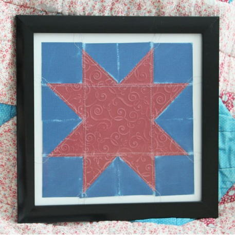 Red and Blue Quilt Block