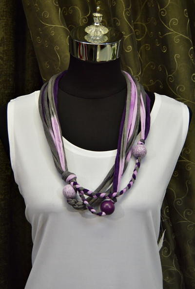 Royal Purple T-Shirt Yarn Necklace