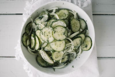 Perfect Potluck Cucumber Salad