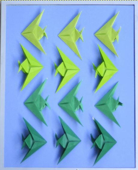 Ombre Fish Origami Art