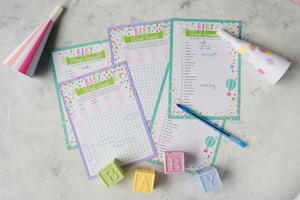 12 easy baby shower games