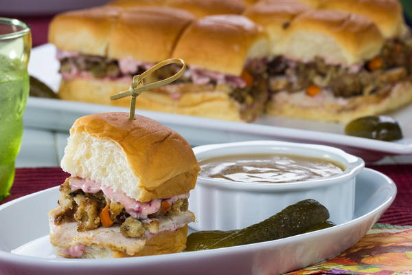 Turkey Day Leftover Sliders