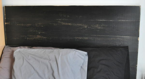 Painted Planked DIY Headboard
