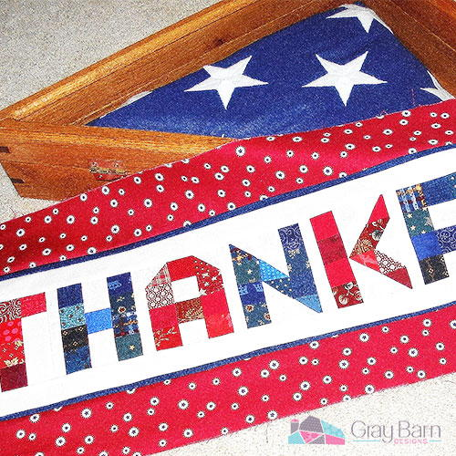 Thankful Patriotic Table Runner