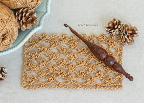 Crochet The Picot Trellis Stitch