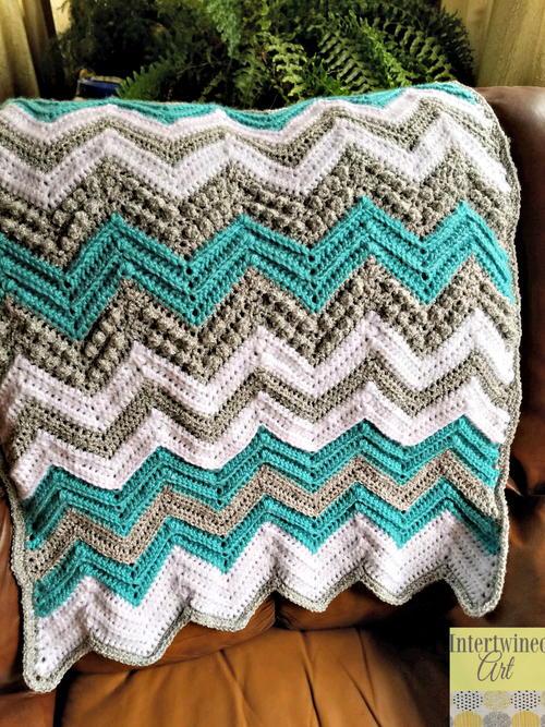 Tons Of Texture Chevron Baby Blanket Allfreecrochetcom