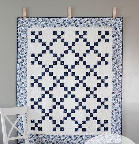 China Blue Irish Chain Quilt Pattern Favequilts Com