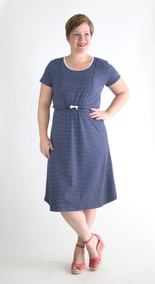 Nautical Tee Midi Dress Tutorial