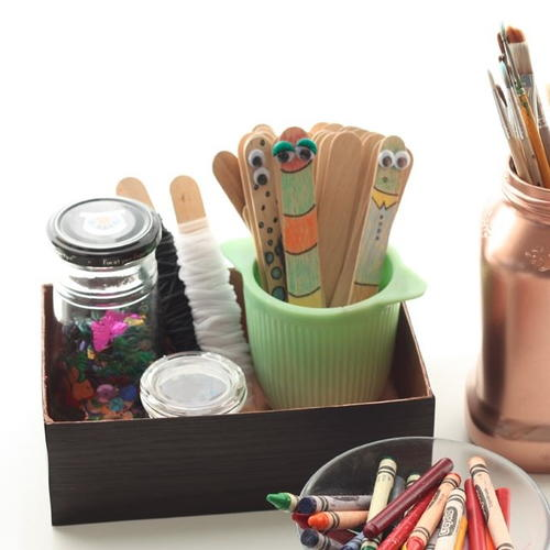 Recycled Box Desk Organizer