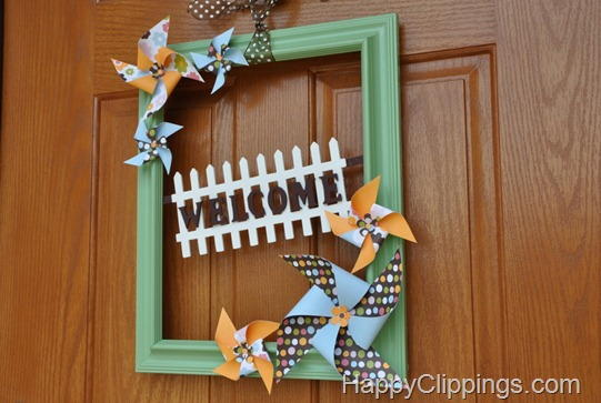 Cute Summer Pinwheel DIY Wreath