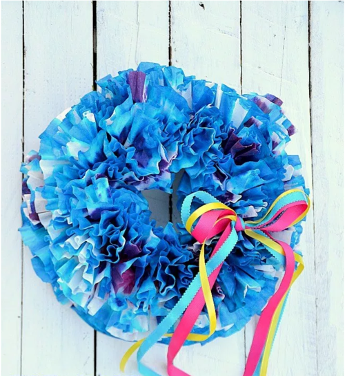 Summer Tie-Dye DIY Wreath