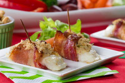 Bacon-Wrapped Fish Bundles