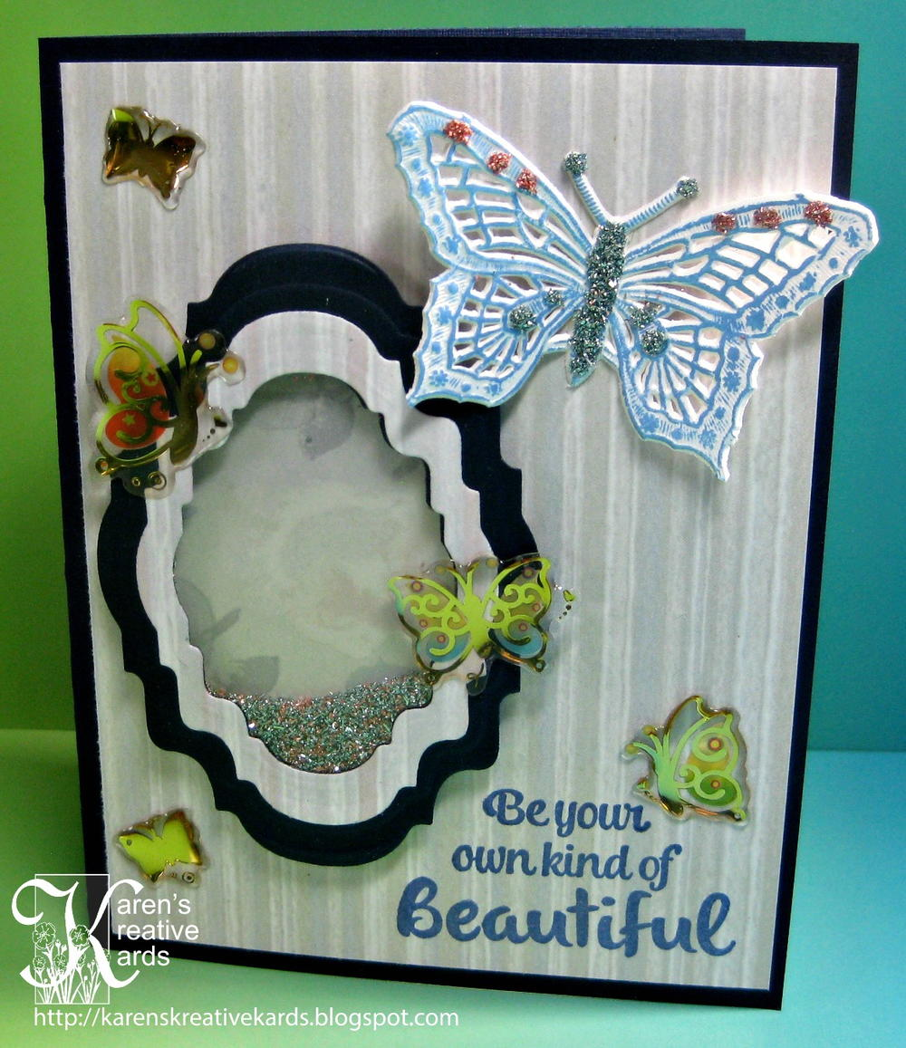 Happy birthday butterfly card allfreepapercrafts com - Beautiful Butterfly Diy Shaker Card