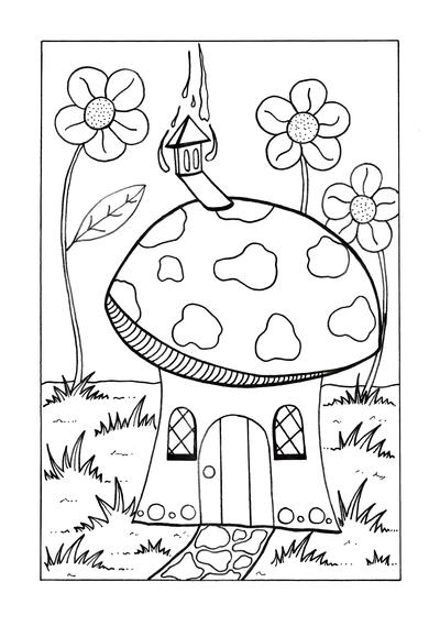 Who Lives Here Coloring Page