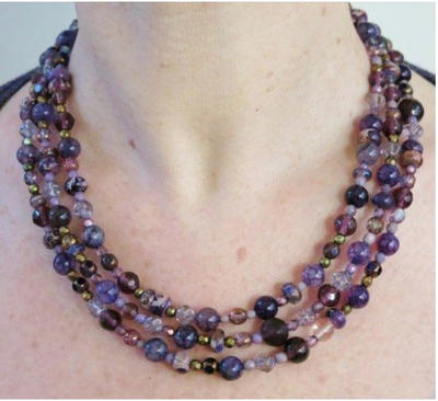 Royal Purple DIY Multi-Strand Necklace