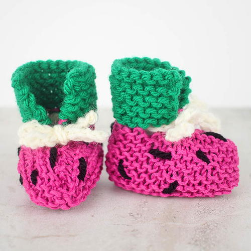 Watermelon Baby Booties