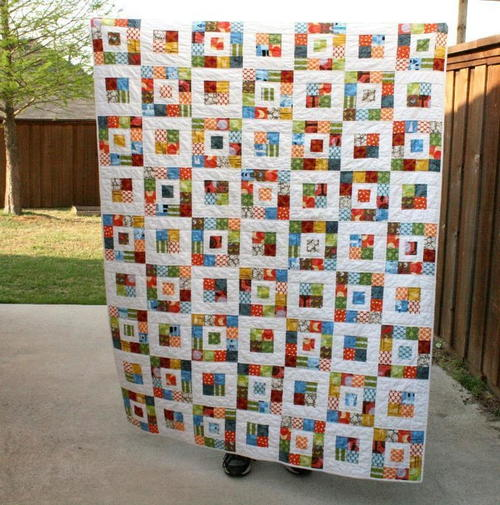Royal Roll Squares Quilt