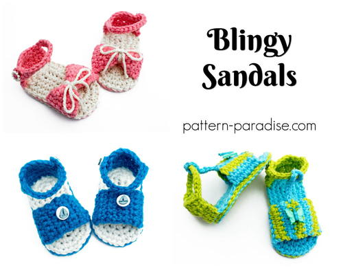 Blingy Baby Slipper Sandals