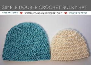 Simple Double Crochet Bulky Hat