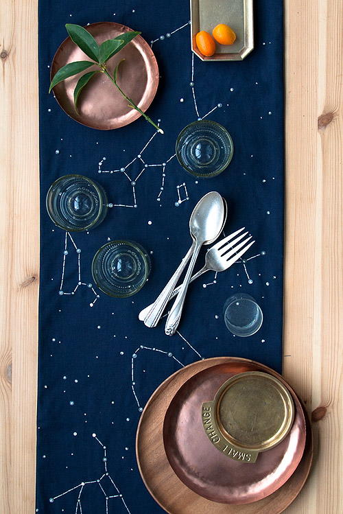 French Dot Constellation Table Runner