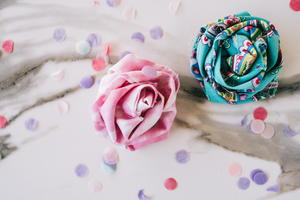 No-Sew Fabric Flowers