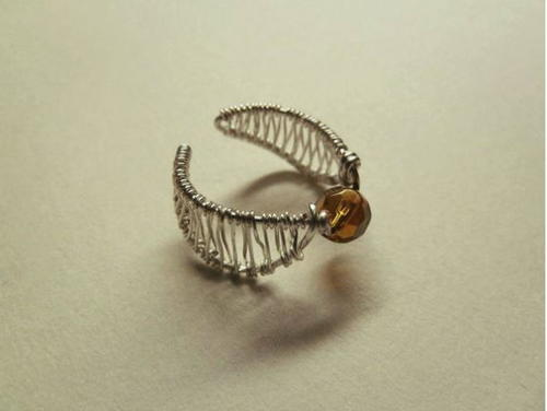 Golden Snitch Wire Ring