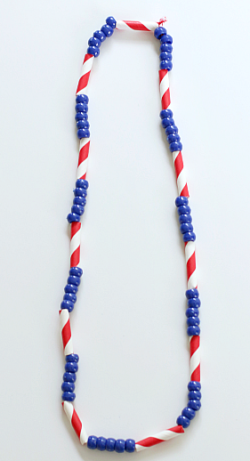 Patterned Patriotic Craft Necklace
