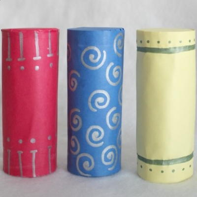 Toilet Paper Roll Shaker Set