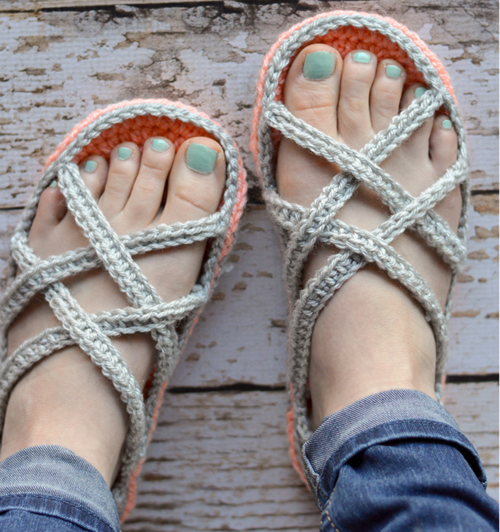 Comfy Cozy Crocheted Sandals