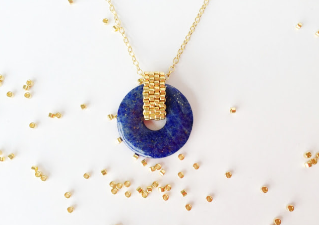 Diy Beaded Ring Peyote Stitch With Pendant